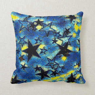 Starry Galaxy Throw Pillow