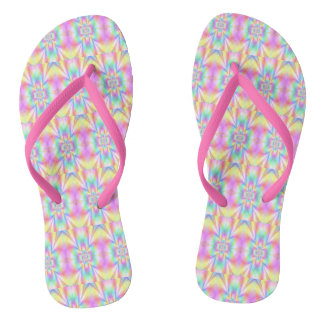 Starry Girl Blue Flip Flops