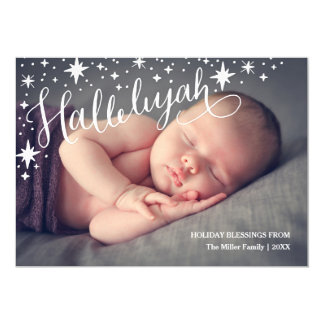 Starry Hallelujah Full Photo | Religious Christmas Card