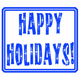 Starry Happy Holidays Text Design Standing Photo Sculpture