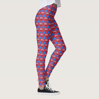 Starry Heart Emoji Patterned Leggings