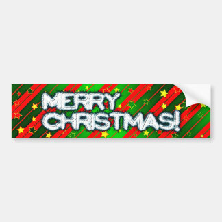 Starry Holiday Background Bumper Sticker