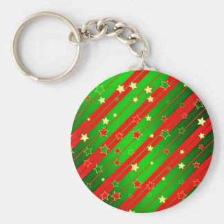 Starry Holiday Background Key Chain
