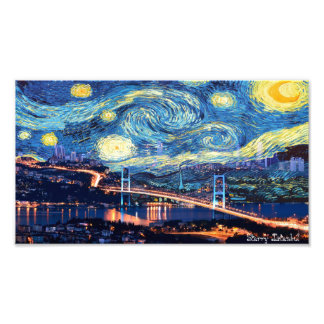 Starry Istanbul Photo Print
