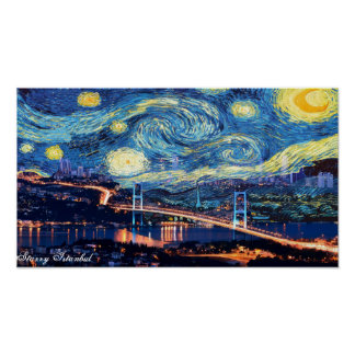 Starry Istanbul Poster Print