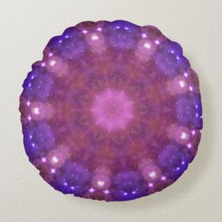 Starry Kaleidoscope Round Cushion