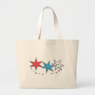Starry Looks - A Patriotic Trio Tote Bags