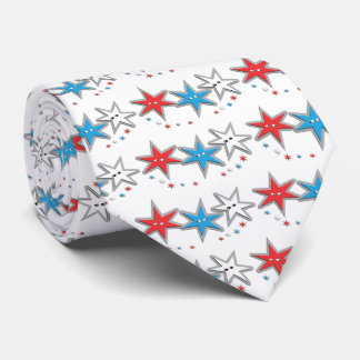 Starry Looks - A Patriotic Trio Tie
