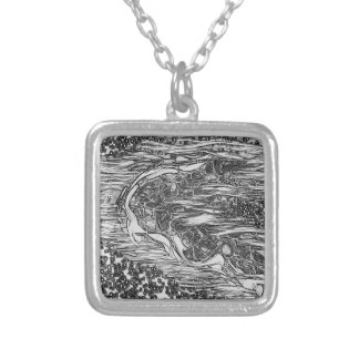 Starry Man Silver Plated Necklace