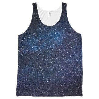 Starry Midnight Blue Sky Unisex Tank