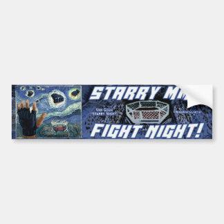 Starry MMA Fight Night Bumper Sticker