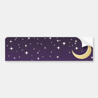 Starry Moon Bumper Sticker
