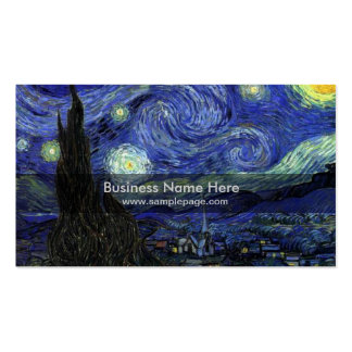 starry night,1889,Vincent van Gogh Business Cards