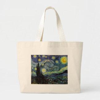 starry night,1889,Vincent van Gogh Jumbo Tote Bag