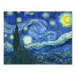 "Starry Night 4.25"" X 5.5"" Invitation Card"