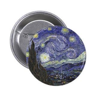 Starry Night 6 Cm Round Badge