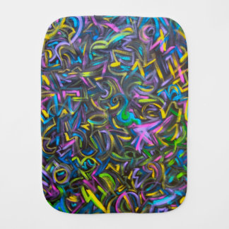 Starry Night-Abstract Art Brushstrokes Burp Cloth