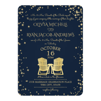 Starry Night Adirondack Chairs Beach Wedding 11 Cm X 16 Cm Invitation Card