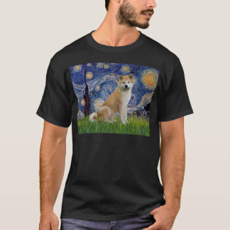 Starry Night - Akita Inu T-Shirt