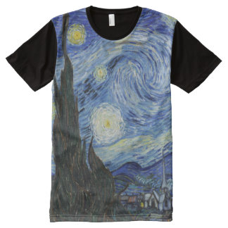 Starry Night All Over Print T-shirt