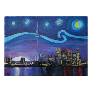 Starry Night at Toronto Poster