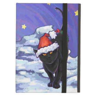 Starry Night Black Cat Christmas Cover For iPad Air