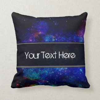 Starry Night Blue Black Cushion