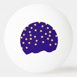 Starry night blue white yellow ping pong gear