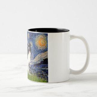 Starry Night - Border Collie (Z) Two-Tone Coffee Mug