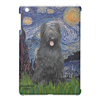 Starry Night - Briard (black) iPad Mini Cover