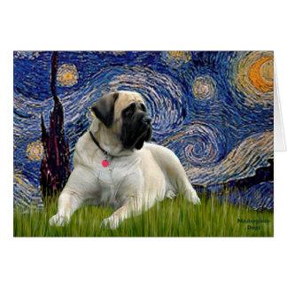 Starry Night - Bull Mastiff (lying down) Card
