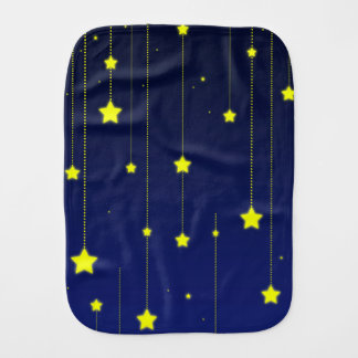 Starry Night burp cloth