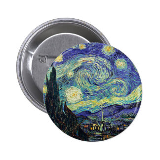 Starry Night by van Gogh 6 Cm Round Badge