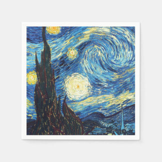 Starry Night by Van Gogh Disposable Serviette