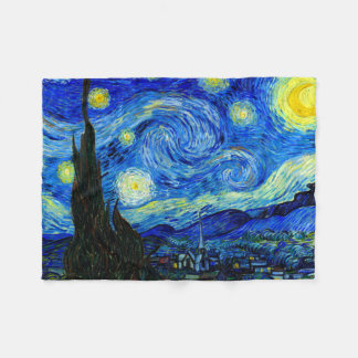 Starry Night by Van Gogh Fine Art Fleece Blanket