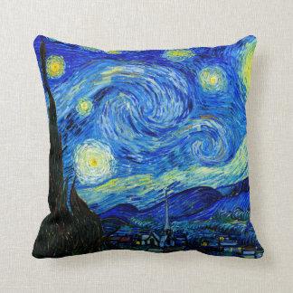 Starry Night by Van Gogh Fine Art Pillow