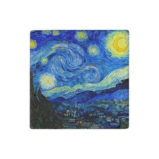 Starry Night by Van Gogh Fine Art Stone Magnet