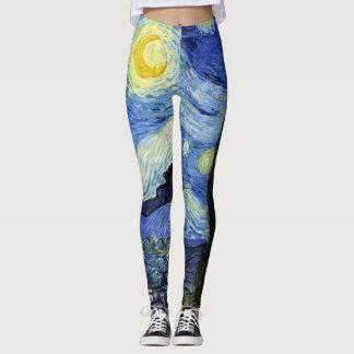 Starry Night by Van Gogh Leggings