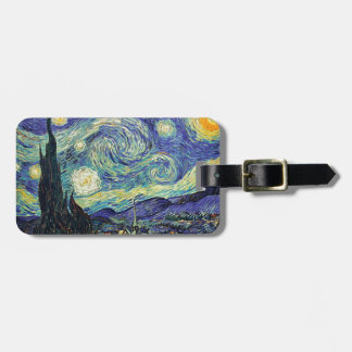 Starry Night by van Gogh Luggage Tag