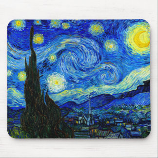 Starry Night by Van Gogh Mouse Pads