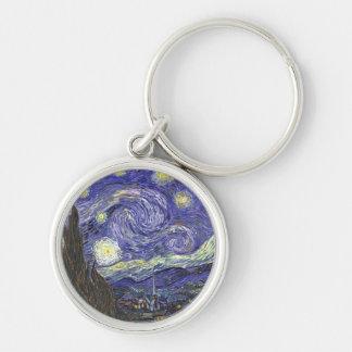 Starry Night by Van Gogh premium keychain