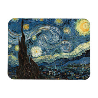 Starry Night by Van Gogh Rectangle Magnets