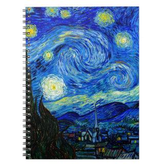 Starry Night by Van Gogh Spiral Notebooks