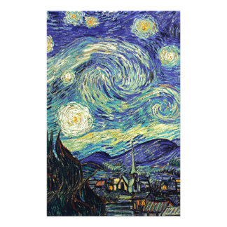 Starry Night by van Gogh Stationery