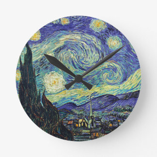 Starry Night by van Gogh Wall Clocks