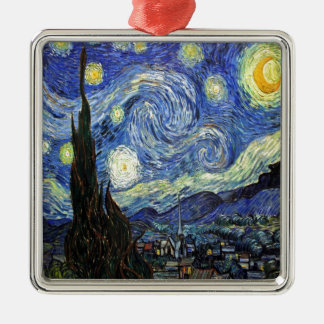 Starry Night By Vincent Van Gogh 1889 Metal Ornament