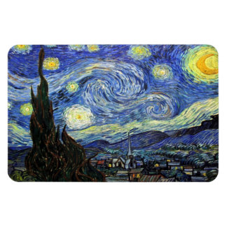 Starry Night By Vincent Van Gogh 1889 Flexible Magnets
