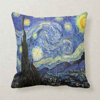 Starry Night By Vincent Van Gogh 1889 Throw Cushion