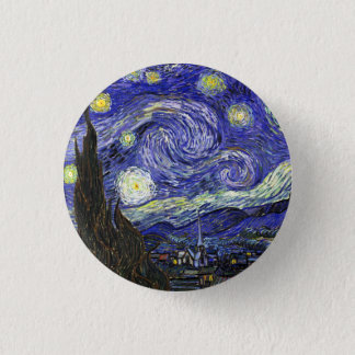 Starry Night by Vincent van Gogh 3 Cm Round Badge