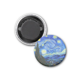 Starry Night by Vincent van Gogh 3 Cm Round Magnet
